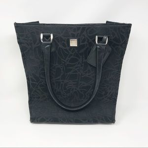 Diane Von Furstenberg Black Canvas Large Tote